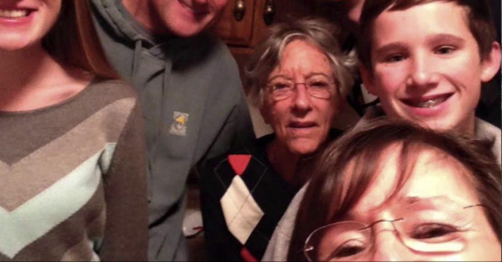 Charter Senior Living of Franklin Video Thumbnail Family Group Surrounded by senior living resident
