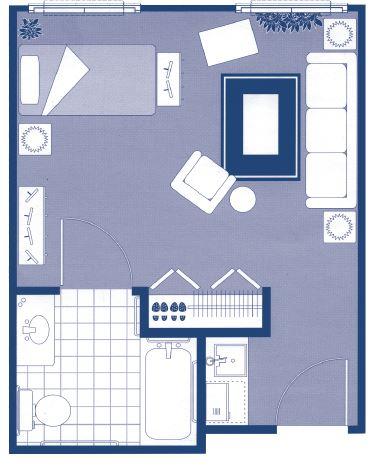"""Studio Design Floor Plans – 19'3"""" x 14'10"""""""